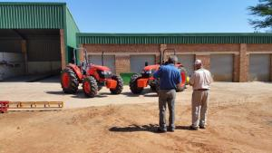 Harold Explaing some features of the Kubota M8540 Standard tractor