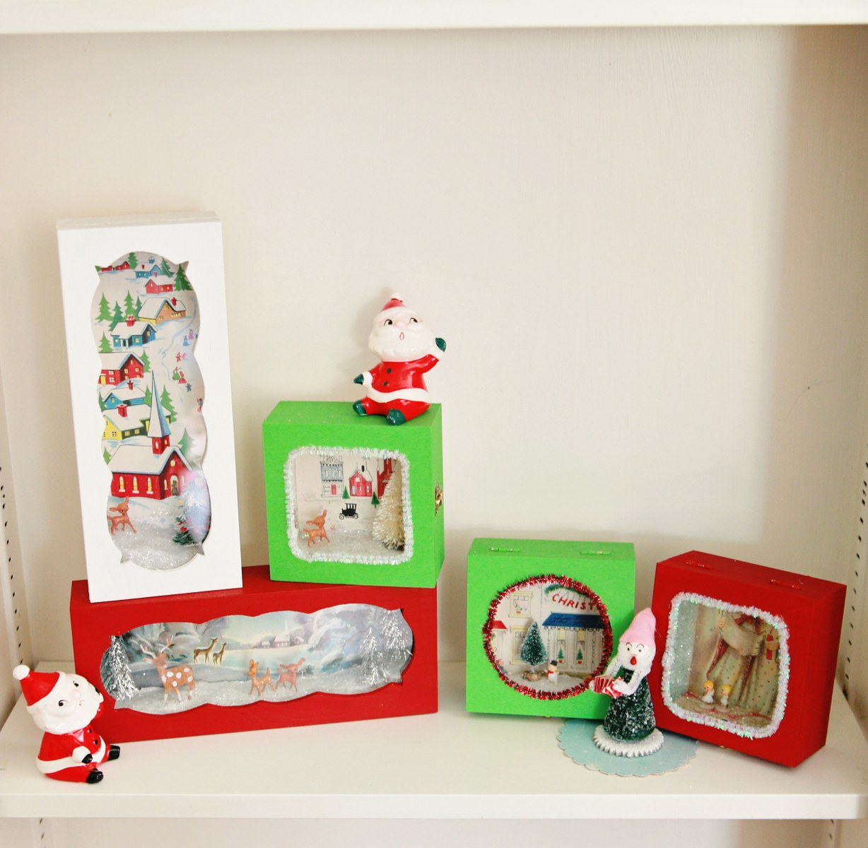 diy cute vintage christmas card boxes  my so called