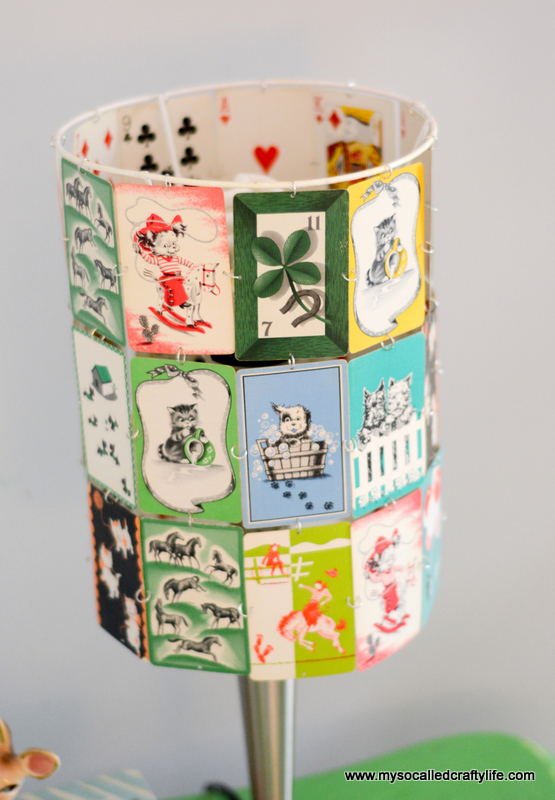 Diy Upcycled Vintage Playing Card Lampshade My So Called