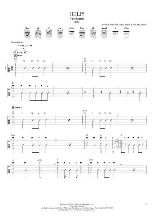 About Girl Guitar Tabs