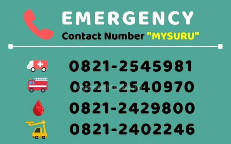 Mysore City Emergency Contact Number