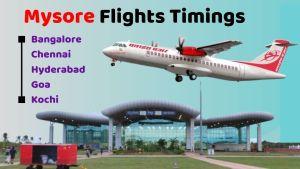 Mysore Flights Timings