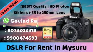 Canon 1500D For Rent in Mysore