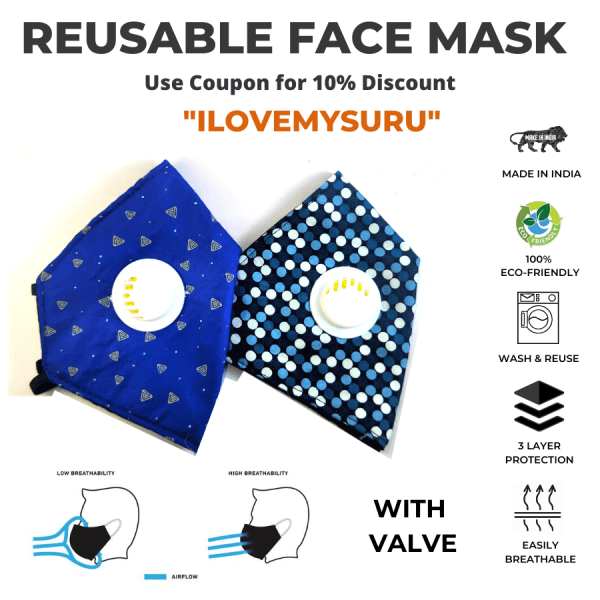 sbt 3 ply reusable face mask