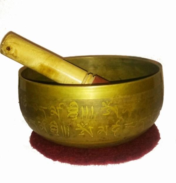 tibetische Klangschale aus Messing