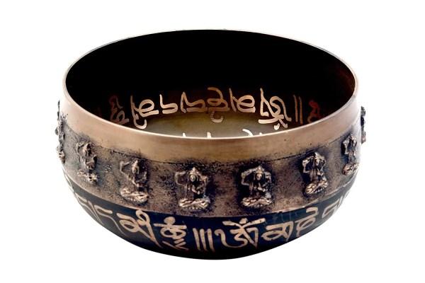 Tibetische Klangschale mit Prägung