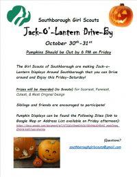 Jack-O'-Lantern Drive-By flyer
