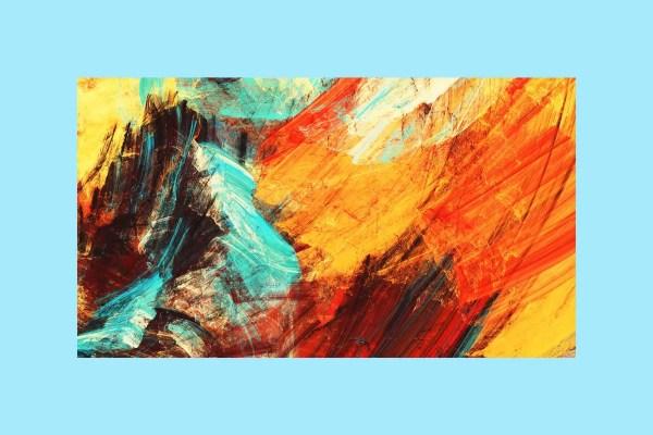 Fractal Splashes Canvas art