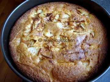 vanilla apple cake