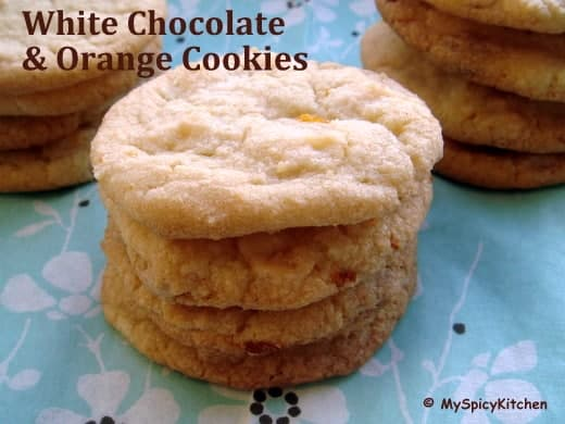 White Chocolate & Orange Cookies