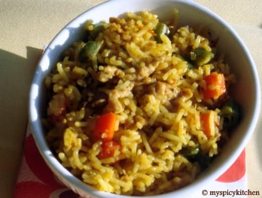 Ground Chicken & Vegetables Pulao