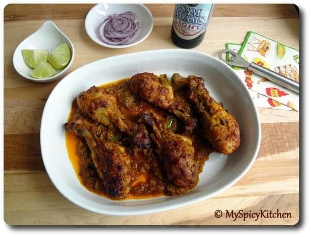 Blogging Marathon, Chicken Feast, Curried Roasted Chicken