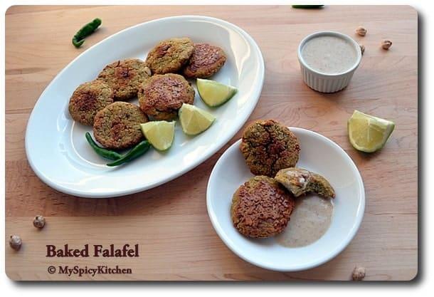 Chickpeas vada, middle eastern cuisine, fusion falafel, blogging marathon,