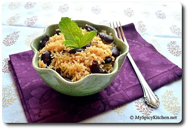 Kidney Beans Rice, Rajma Pulao, My Legume Love Affair