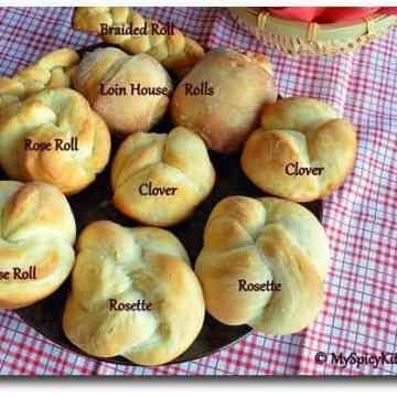Baking Partners, Dinner Rolls, Rose Rolls, Kaiser Rools, Rosette Rolls, Loin House Roll, Clover Roll, Braided Roll