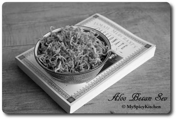 Alu Sev, Alu Bhujia, CCChallenge, Ismail Merchant's Passionate Meals
