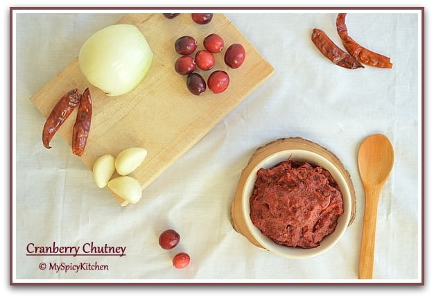 Cranberry Chutney, Blogging Marathon, Fresh Cranberry Recipe