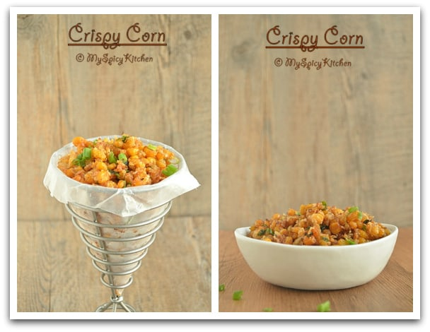 Blogging Marathon, Crispy Sweet Corn, Taste of Tropics - Corn