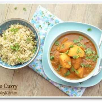 Potato Korma, Blogging Marathon, Aloo Korma, Aloo Curry,