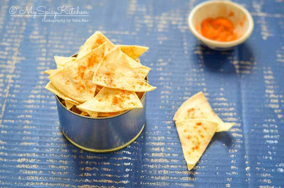 Semi Homemade Corn Tortilla Chips - MySpicyKitchen