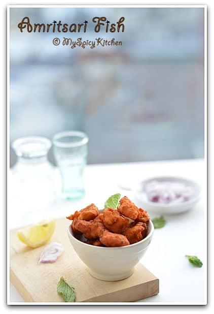 Amritsari Fish Fry, Blogging Marathon, Punjabi Cuisine