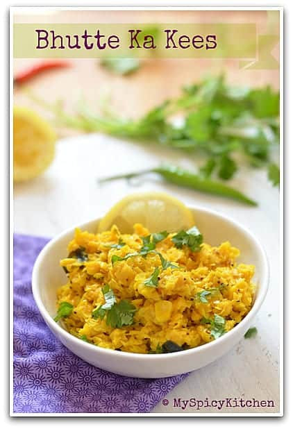 Crushed and sauteed corn, Madhya Pradesh Cuisine, Indore Food, Blogging Marathon