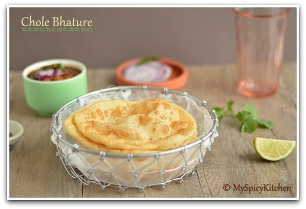 Choley Bhatura, Chole Bhatura, Chana Bhatura, Delhi Cuisine, Blogging Marathon