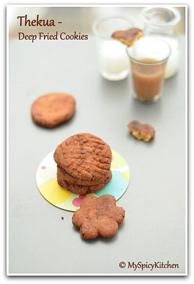 Thekua, Deep Fried Cookies, Bihari Food, Jharkhand Food, Blogging Marathon