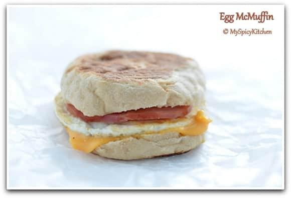 McDonald Style Egg McMuffin, Eggs, American Breakfast,