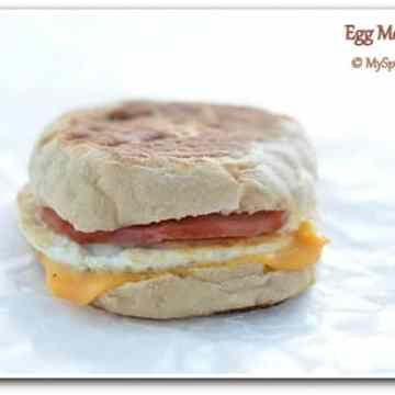 McDonald Style Egg McMuffin, Eggs, American Breakfast,