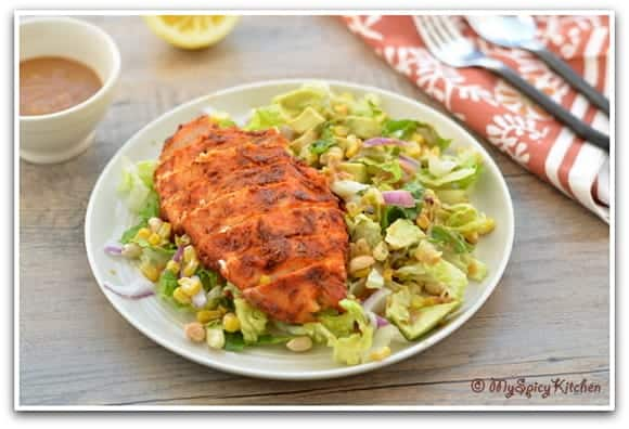Grilled Chicken Salad, Southwestern Cuisine, Blogging Marathon