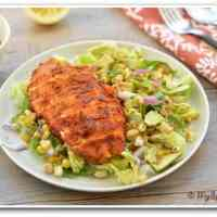 Spicy Southwestern Chicken Salad with Peanut Butter and Lemon Dressing