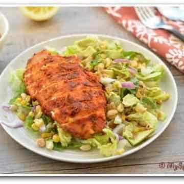 Grilled Chicken Salad, Southwestern Cuisine, Blogging Marathon