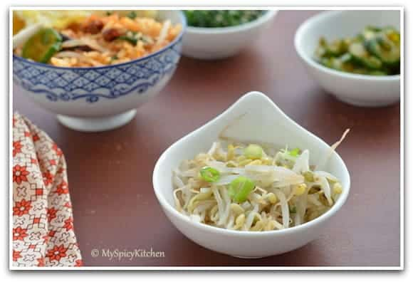 Food of the World, Bean sprouts salad,