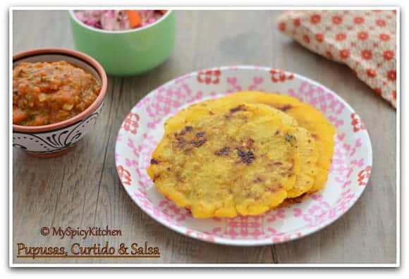 National Dish of El Salvador, El Salvadorian Food, El Salvadorian Cuisine, Blogging Marathon, Around the World in 3 Days with ABC Cooking, Stuffed Tortilla