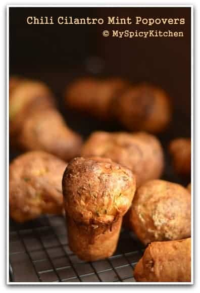 spicy Popovers, Savory Bakes, Fire up the Oven, Blogging Marathon, Baking Marathon