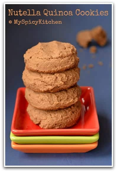 Eggless Quinoa Nutella Cookies