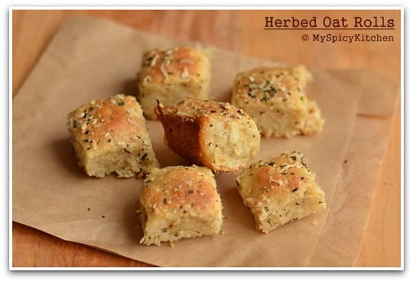 Blogging Marathon, Baking Marathon, Fire Up Your Oven, Herbed Oats Bread,