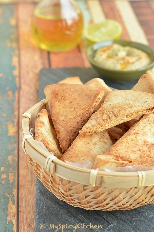 Pita Chips, Blogging Marathon, Buffet on Table, Mediterranean Cuisine, Mediterranean Food,