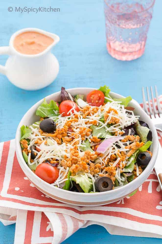 Ground Chicken Taco Salad