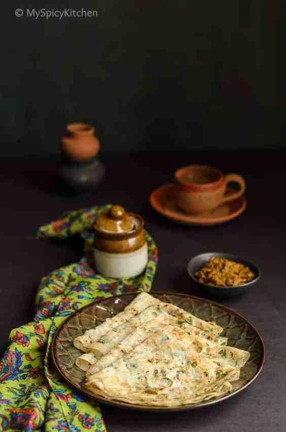 a plate of biyyam pindi attlu or rice flour crepes from Telangana cuisine