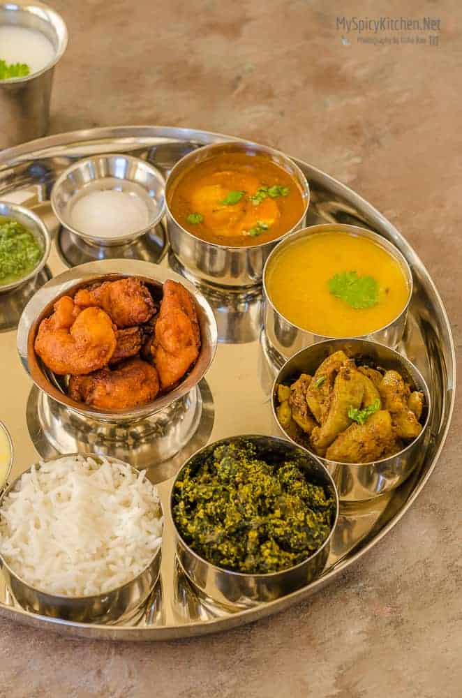 Maharashtrian Thali - Meal from Indian State of Maharashtra