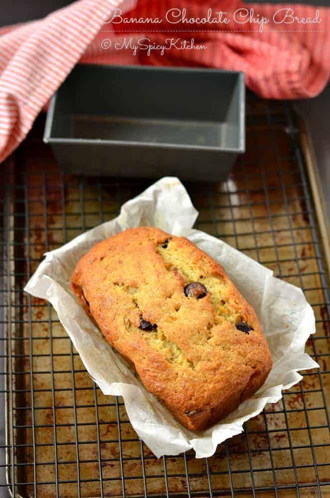 Banana Chocolate Chip Bread, Banana Bread, Banana chocolate Bread, Ripe Bananas,