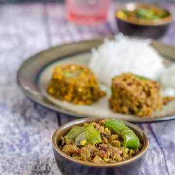 Kheema Shimla Mirch, Kheema Capsicum Curry, Kheema Bell Pepper Curry, Ground Goat meat Bell Pepper Curry, Ground Goat Bell Pepper Curry, Blogging Marathon, Indian Curry,