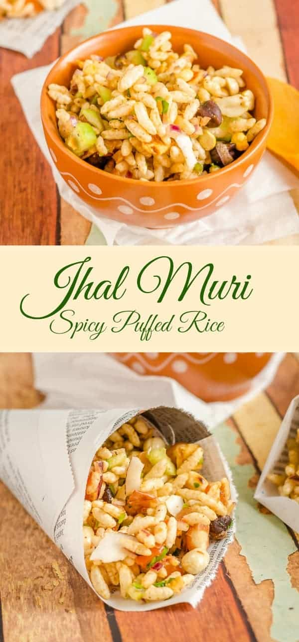 Jhal Muri Spicy Puffed Rice, Jhal muri is spicy puffed rice and a street food from India.