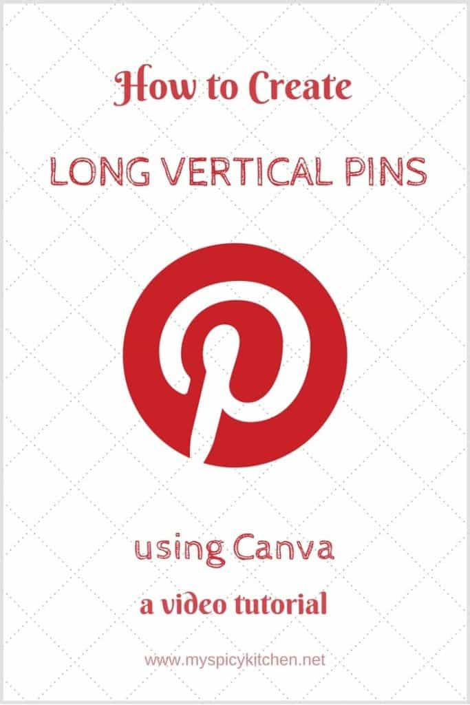 A graphic displaying how to create long Pinterest pins using Canva