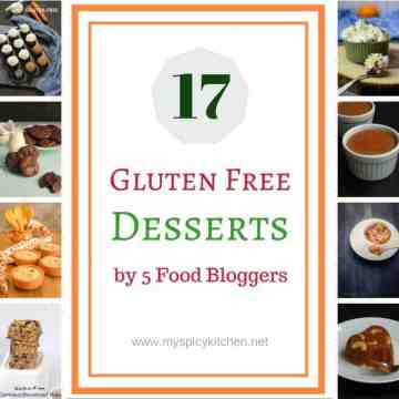 Collage of gluten free desserts
