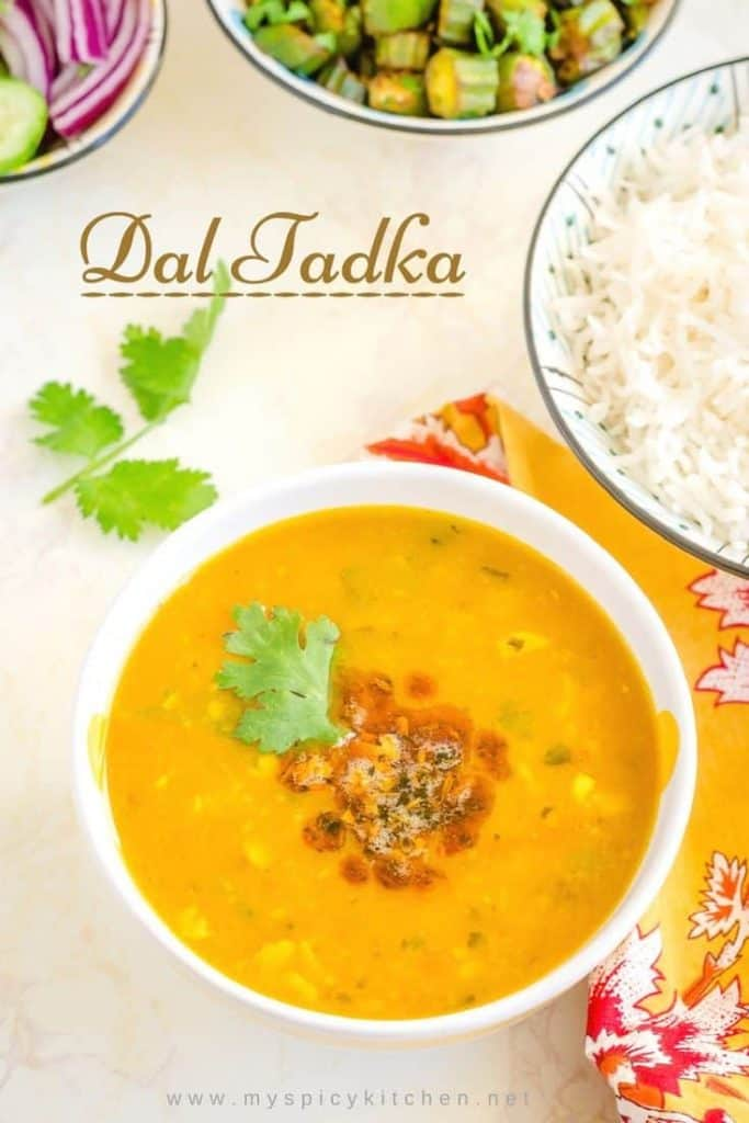 Delicious Instant pot dal tadka is a spicy flavorful Indian dal. It pairs well with rice and Indian flatbreads