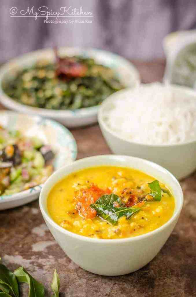 Bowl of Sri Lankan Dhal Curry