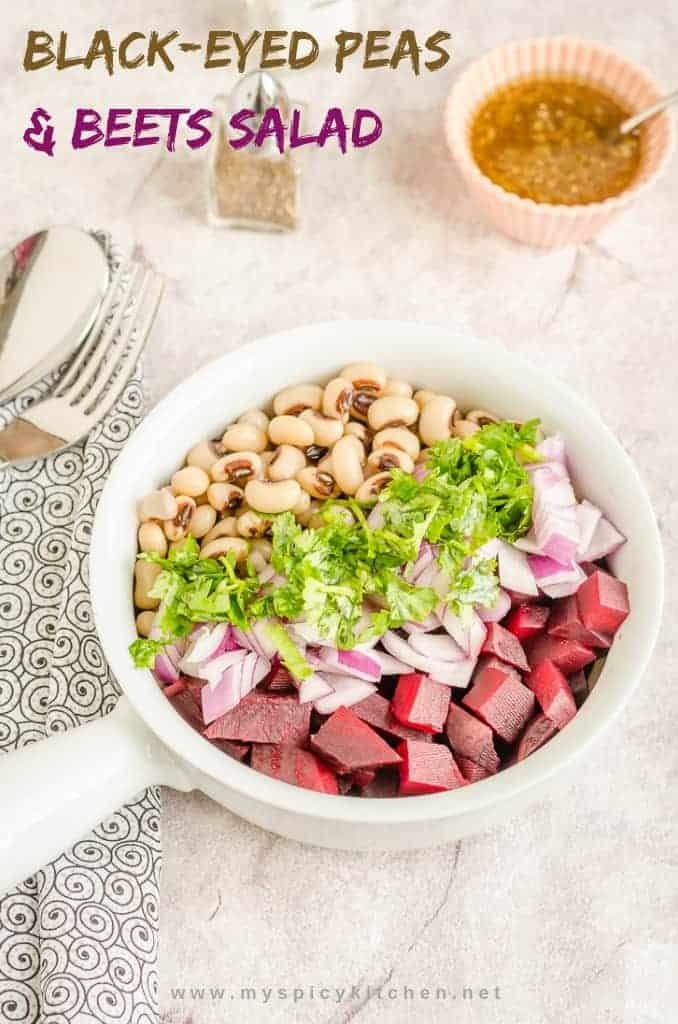 Healthy Black-Eyed Peas Beets Salad